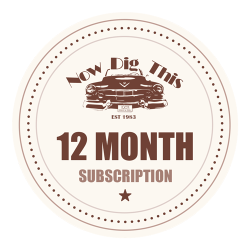 Now Dig This 12 Month Subscription